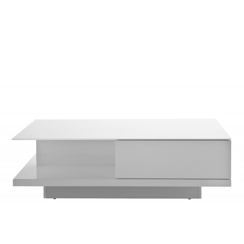 futuristinio dizaino žurnalinis staliukas, dviem stalčiais, 8 mm grūdinto stiklo stalviršiumi