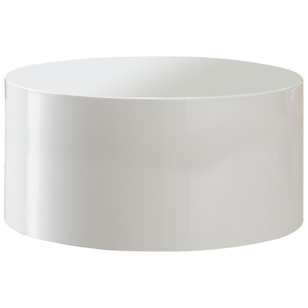 mažas Žurnalinis staliukas, Baltas, blizgus