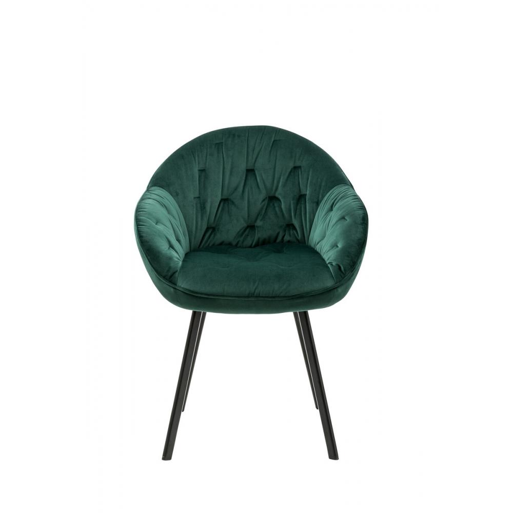 kėdė su atlošu, minkšta, dekoruota vidine dalimi