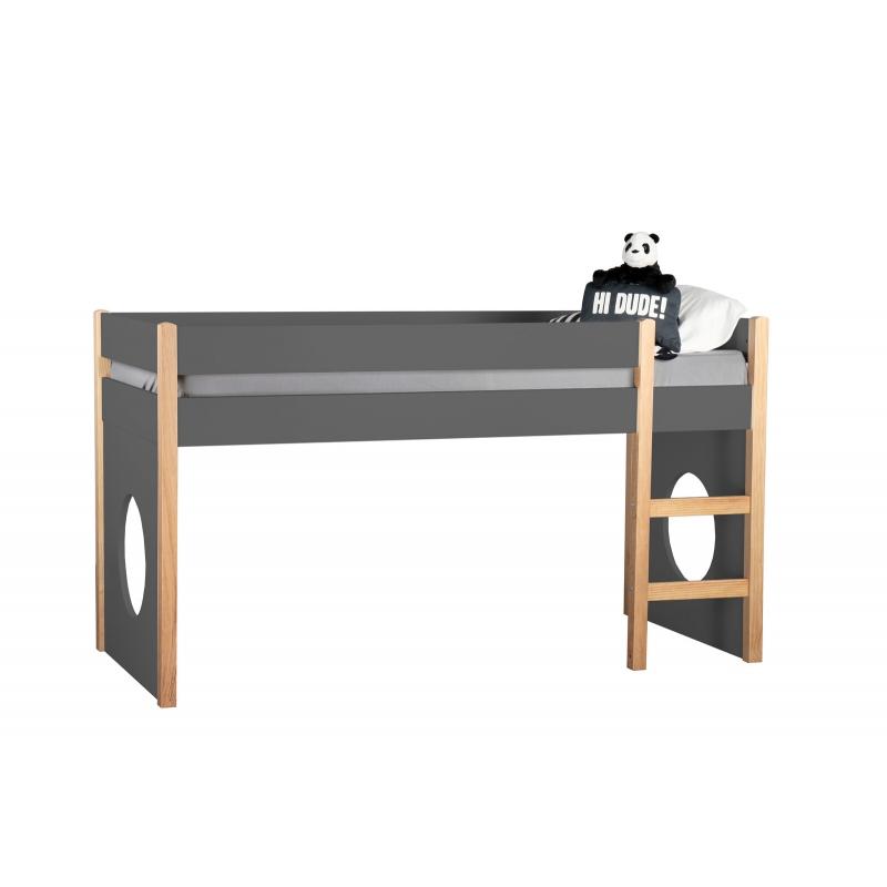 medinės plokštelės lovai, kvadratinės formos, juodos spalovs