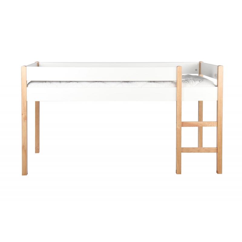 Modernaus dizaino vaikiška lova, aukšta, su kopetėlėmis