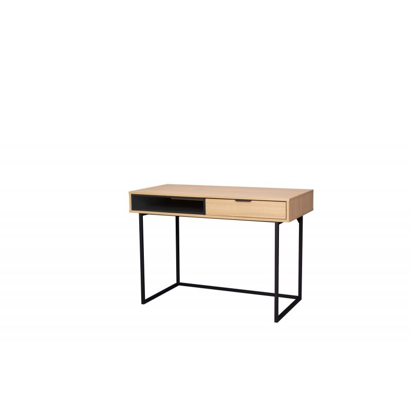 minimalistinis rašomas stalas, medinis, medžio spalvos