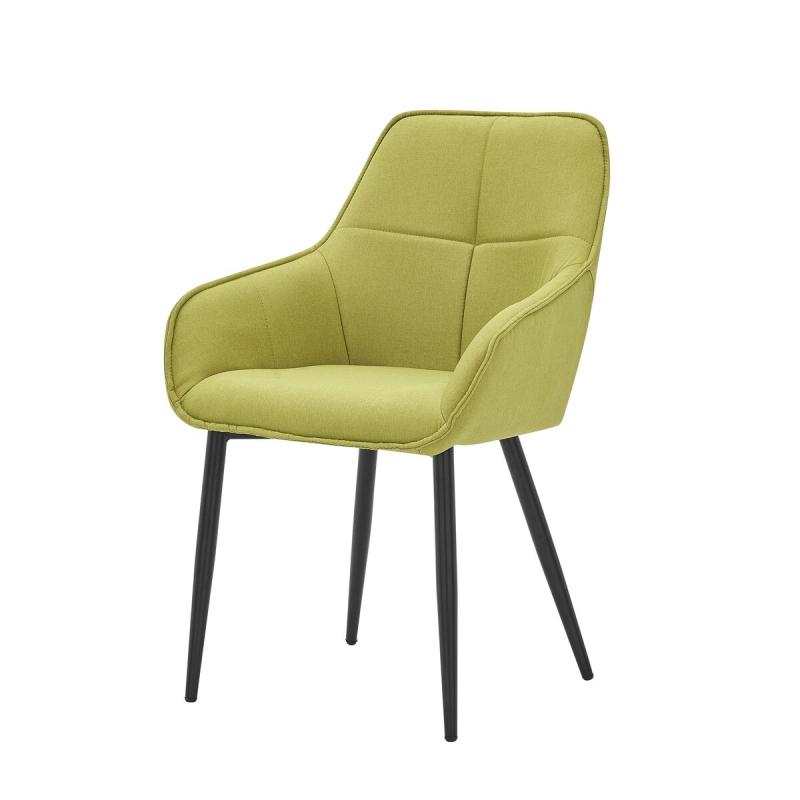 modernaus dizaino kėdė, lininio audinio, su porankiais