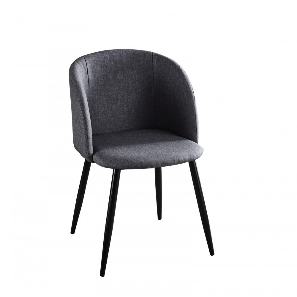 Modernaus dizaino kėdė, audiniu aptraukta, su porankiais