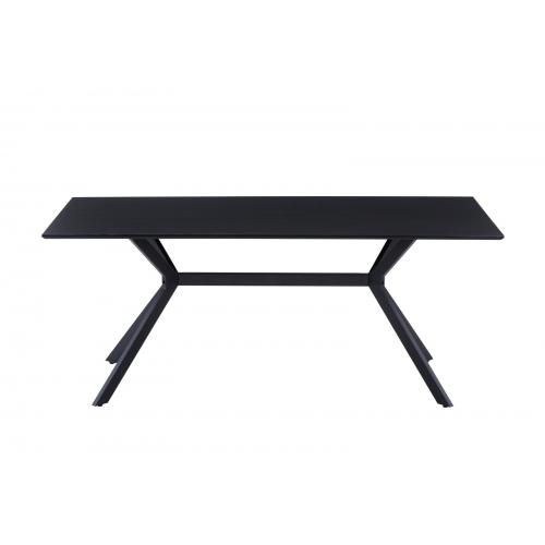 stalas su juodomis metalinėmis kojomis, juodos spalvos, avangardo stiliaus