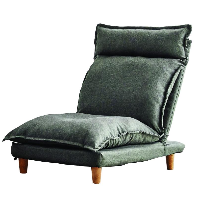 Žemas fotelis, patogus, tamsiai žalios spalvos