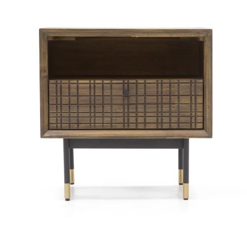 """retro dizaino naktinis staliukas, """"softclose"""" tylaus uždarymo sistema stalčiuose, mažas"""