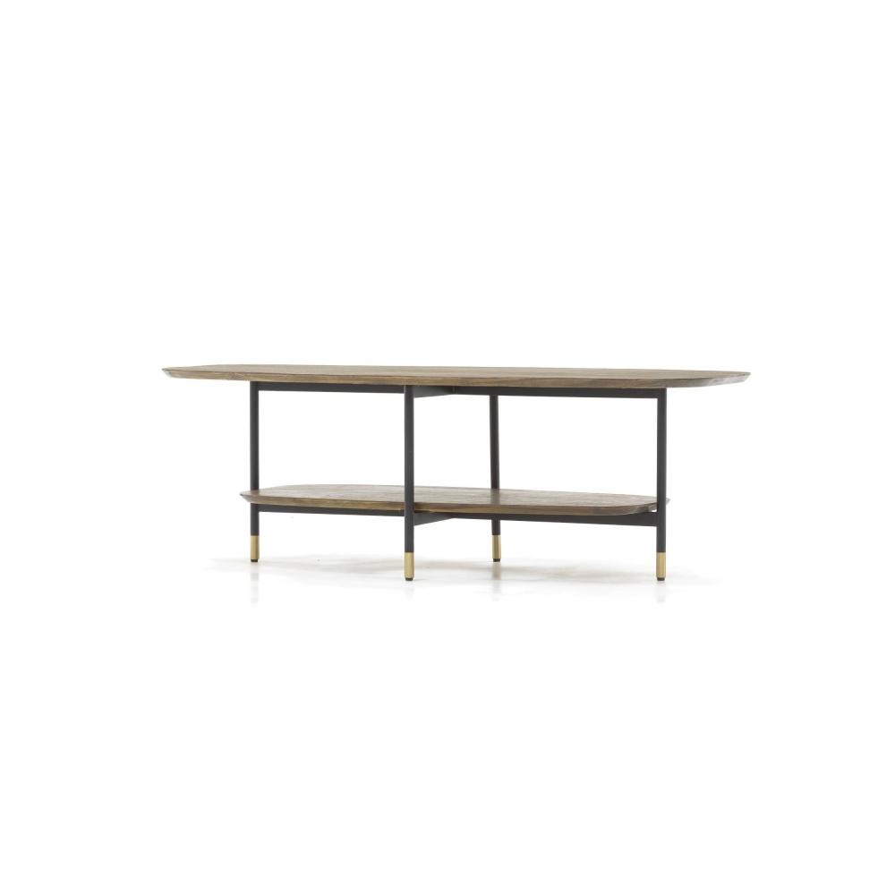 medinis žurnalinis staliukas, sendinto dizaino, tamsiai rudas