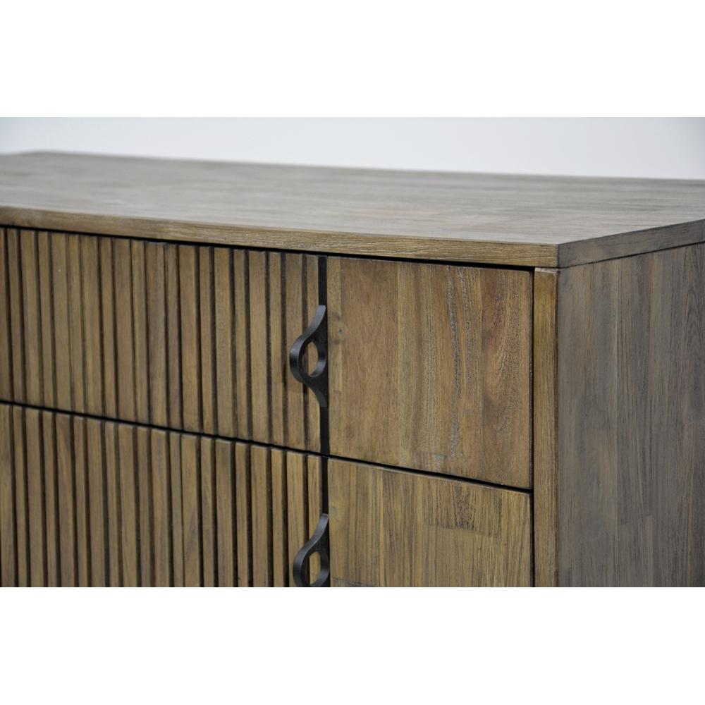 """šešių stalčių komoda, juodomis metalinėmis kojelėmis ir """"softclose"""" tylaus uždarymo sistema"""