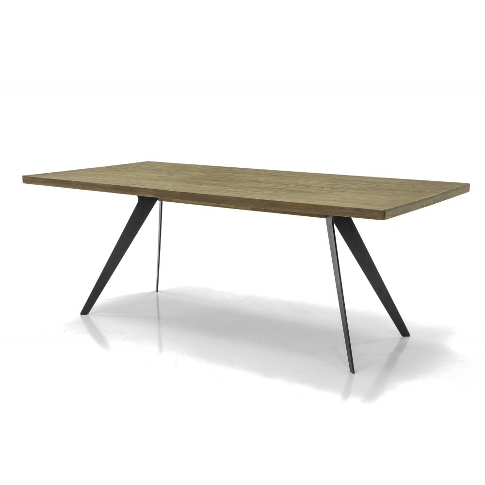 stilingas stalas, 200 cm, natūralaus medžio