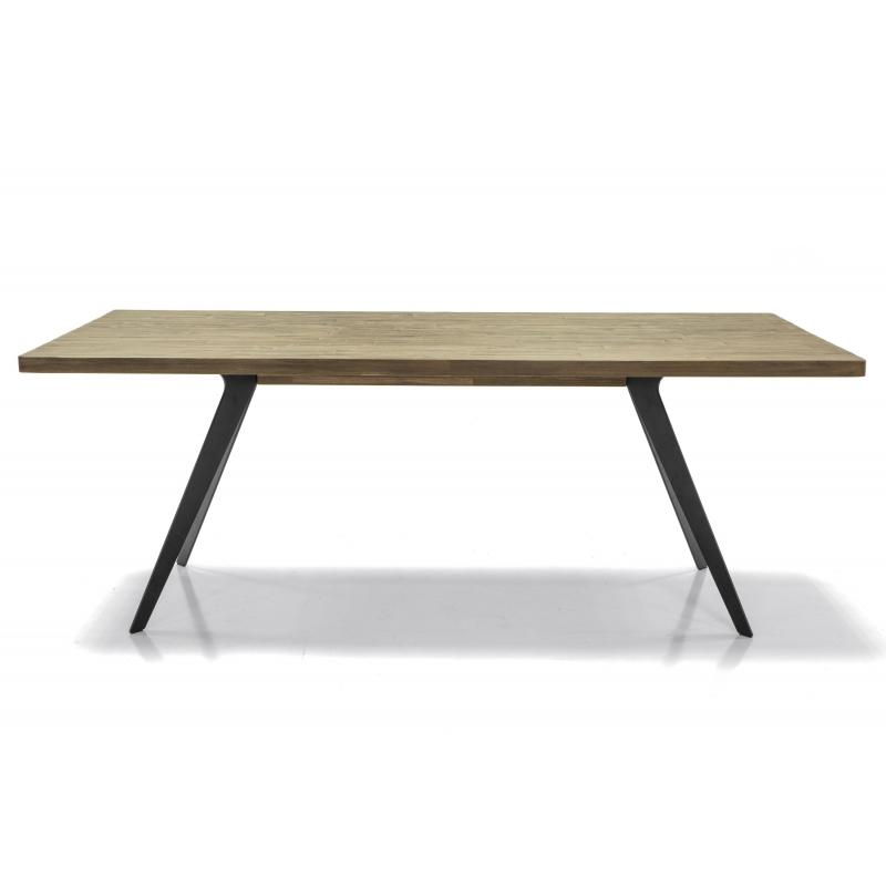 elegantiškas stalas, prabangaus dizaino, rudos spalvos