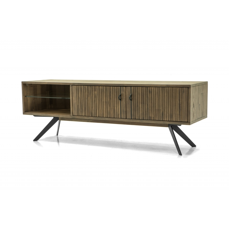 """stilingas TV staliukas, softclose"""" tylaus uždarymo sistema, natūralaus medžio"""