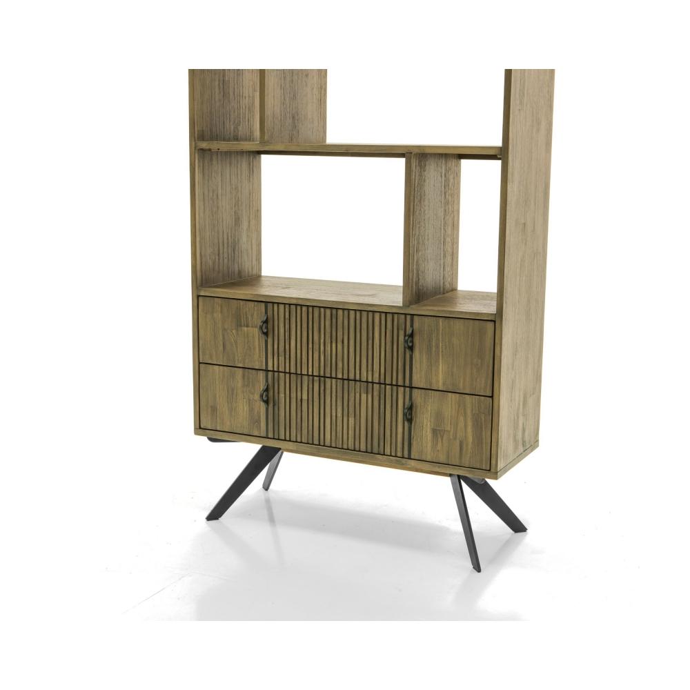 medinė lentyna, sendinto dizaino, ruda