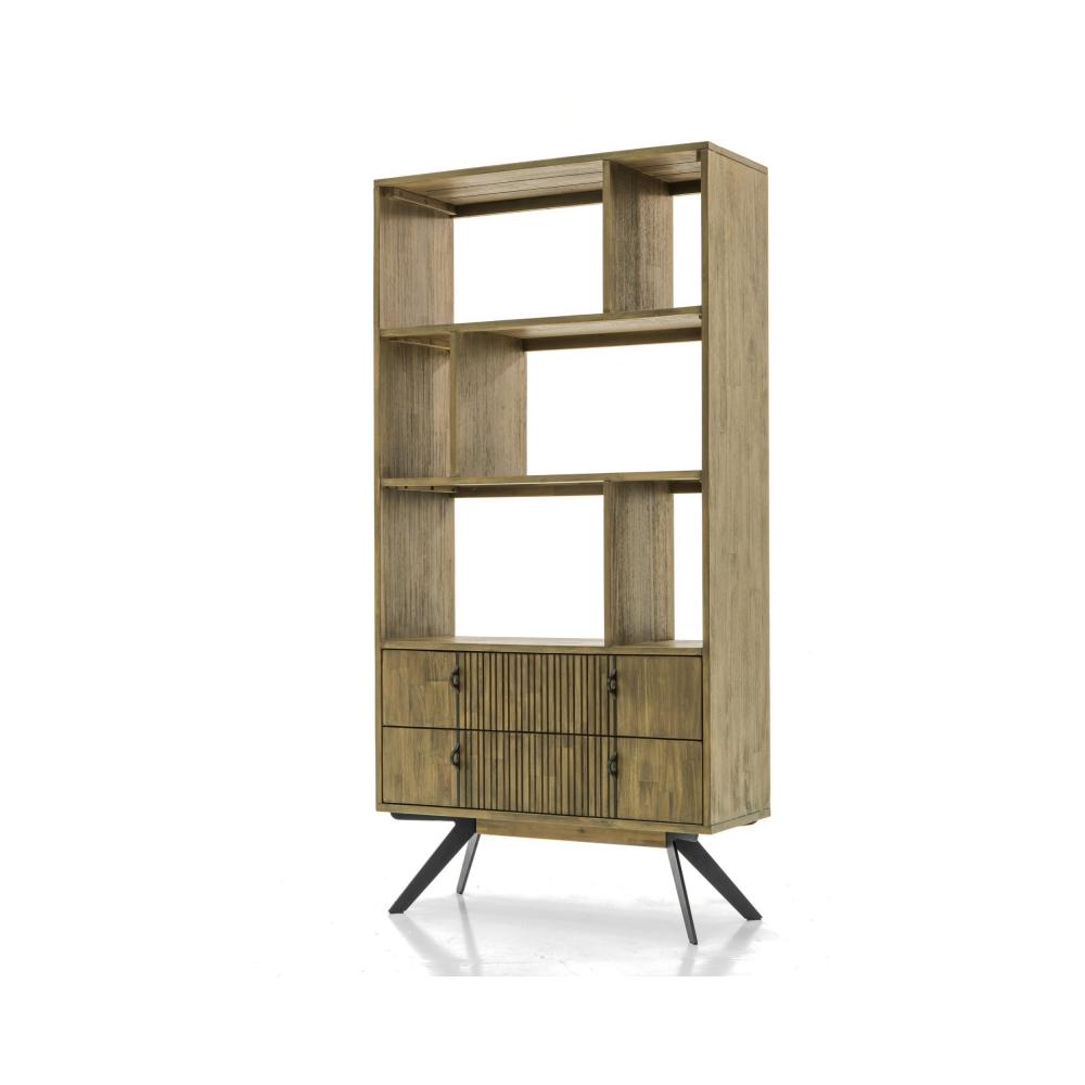 Stilinga lentyna, retro dizaino, natūralaus medžio