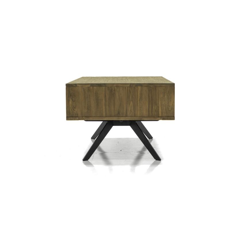 elegantiškas Žurnalinis staliukas, retro, rudos spalvos