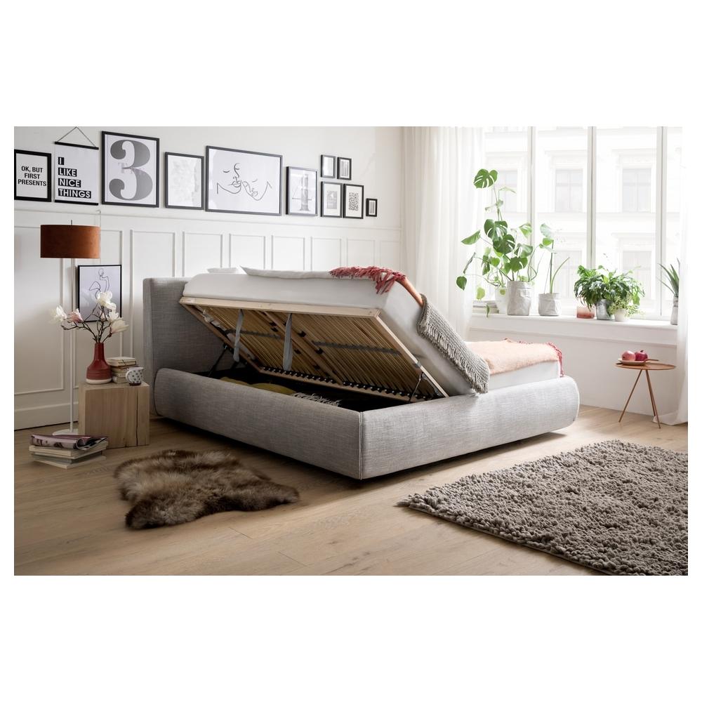 180 cm lova, prabangaus dizaino, grotelėmis ir ventiliuojama patalynės dėže