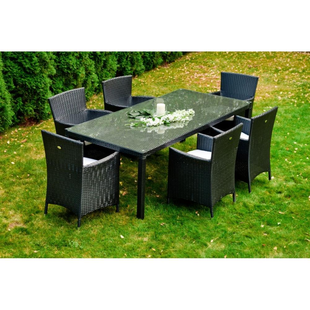 pintas lauko baldų komplektas, su stalu, su pagalvėm
