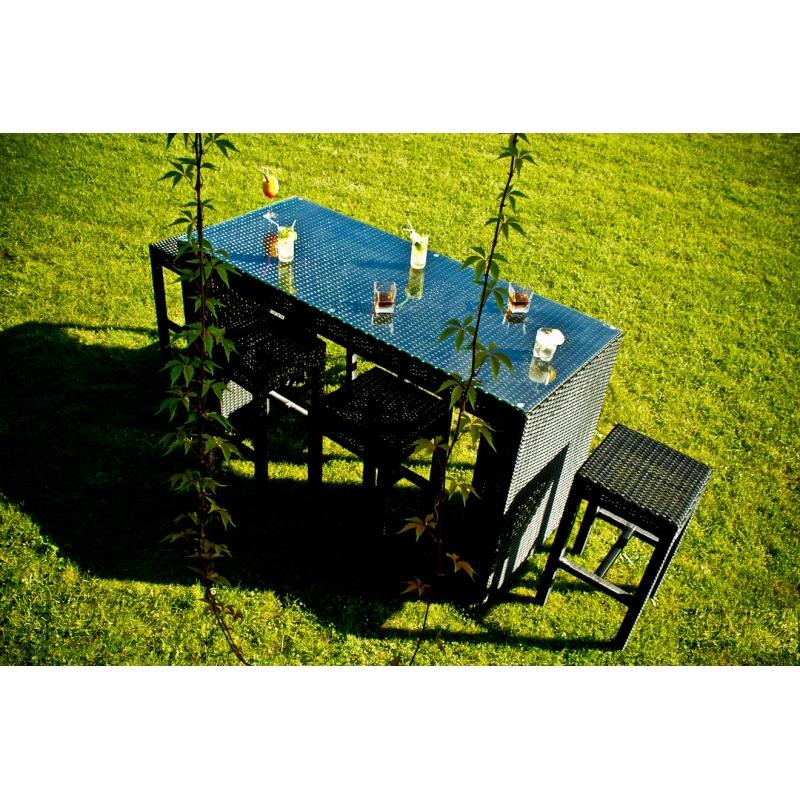 pintas lauko baldų komplektas, su stalu, modernaus dizaino