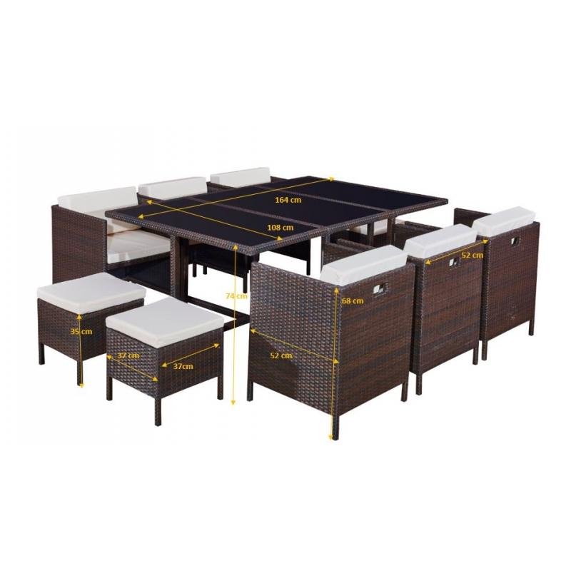 Lauko baldų komplektas CRISTAL XL