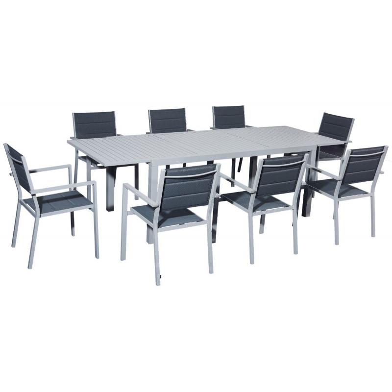 elegantiškas lauko baldų komplektas, kompaktiškas, tamsiai pilkos spalvos