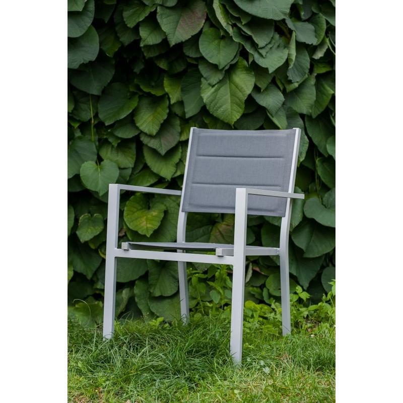 Lauko baldų komplektas DIVER stiliaus, išskleidžiamo stalo rinkinys, industrinio dizaino