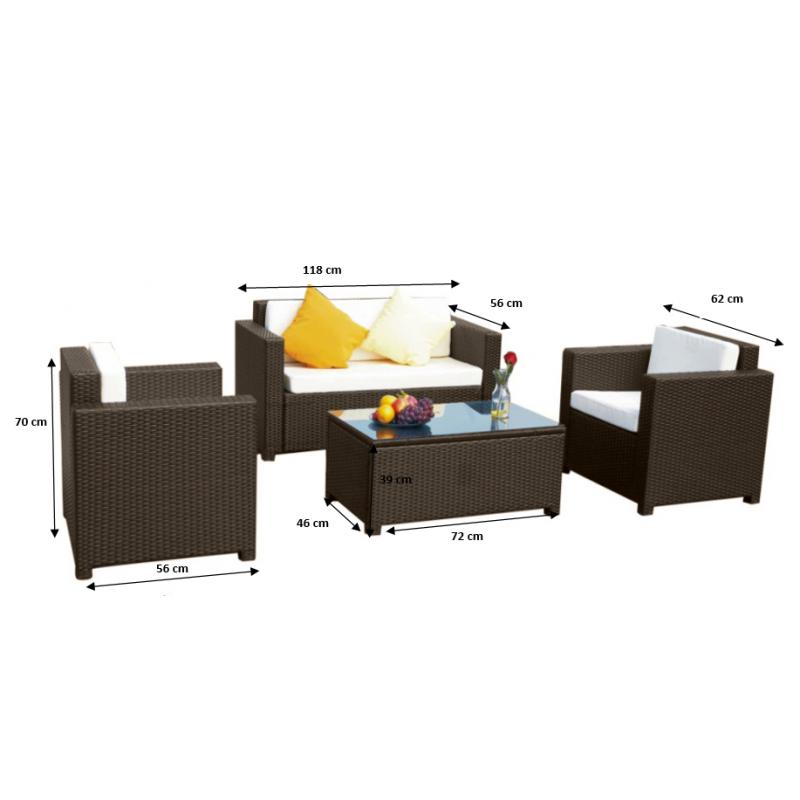 atsparus ekstremalioms oro sąlygoms Lauko baldų komplektas, su staliuku, jaukaus dizaino