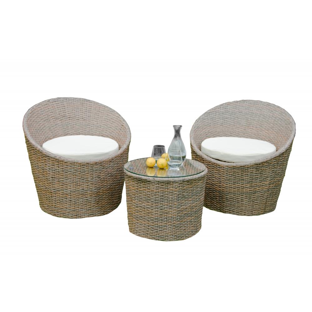 elegantiškas lauko baldų komplektas, iš sintetinio PE ratano, su staliuku
