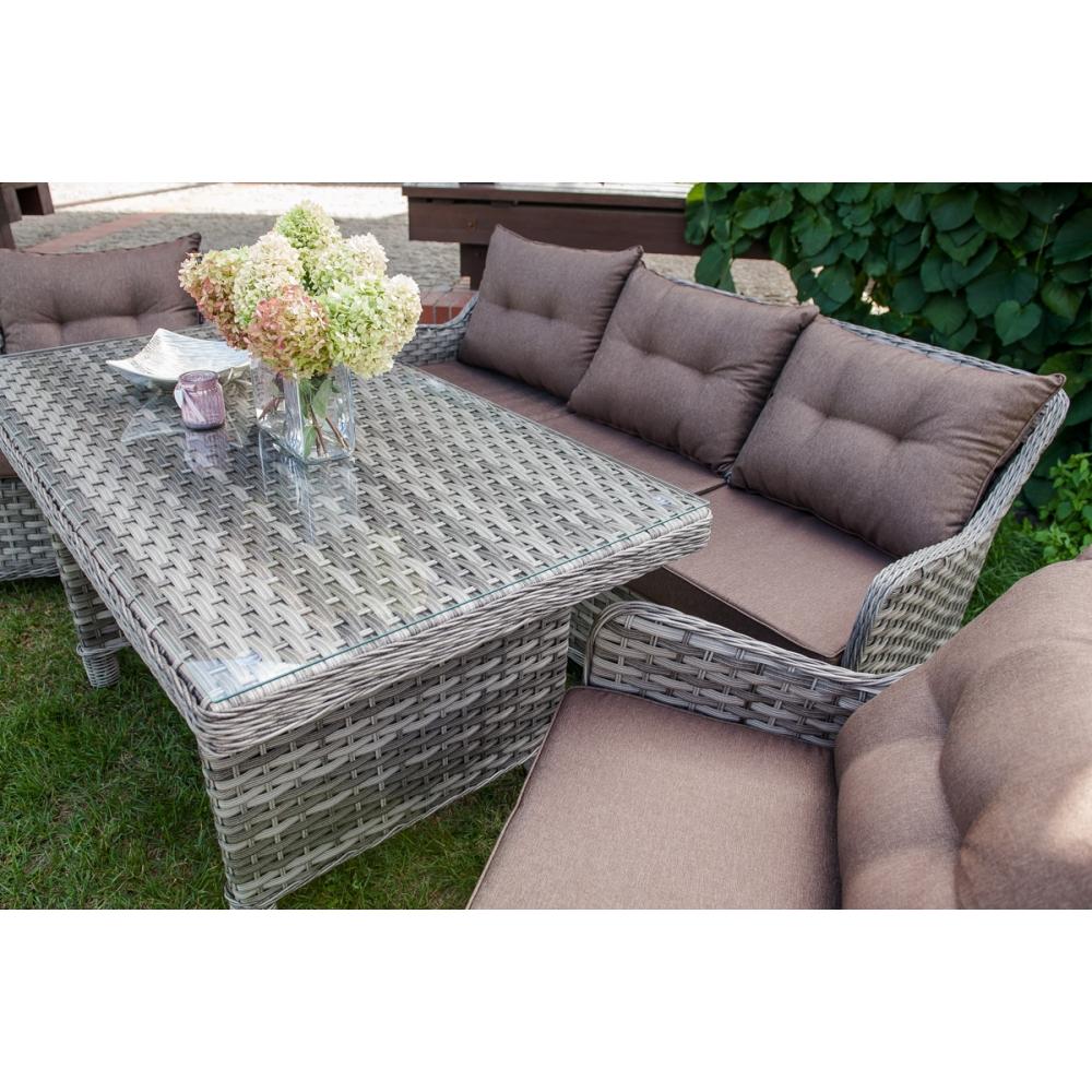pintas lauko baldų komplektas, su stalu, modernaus dizaino, prabangaus dizaino