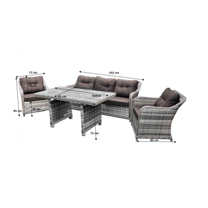 Lauko baldų komplektas DIVI