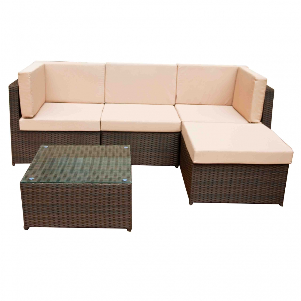 Lauko baldų komplektas TINT BROWN
