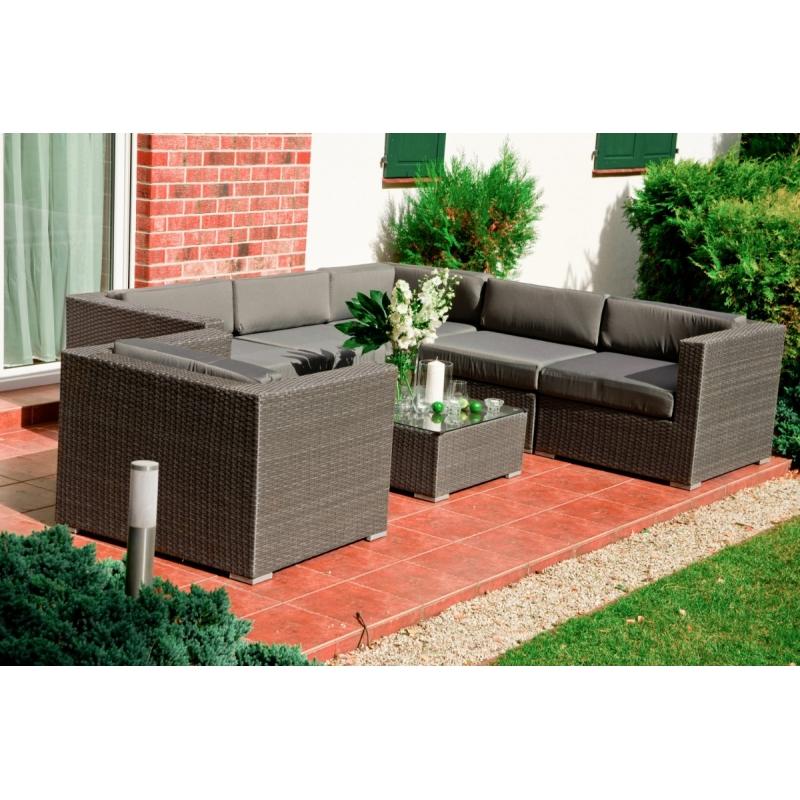 prabangaus dizaino lauko baldų rinkinys, minkštos, aukštos kokybės pagalvėlės, pintas