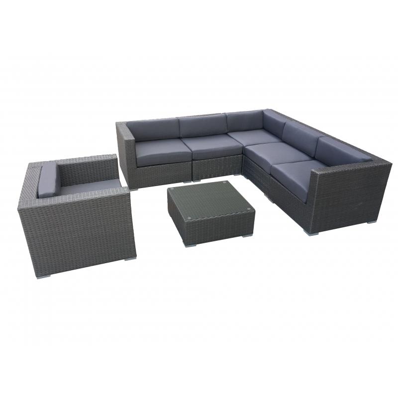 ALT stiliaus lauko baldų komplektas, šiuolaikinio stiliaus, ratano
