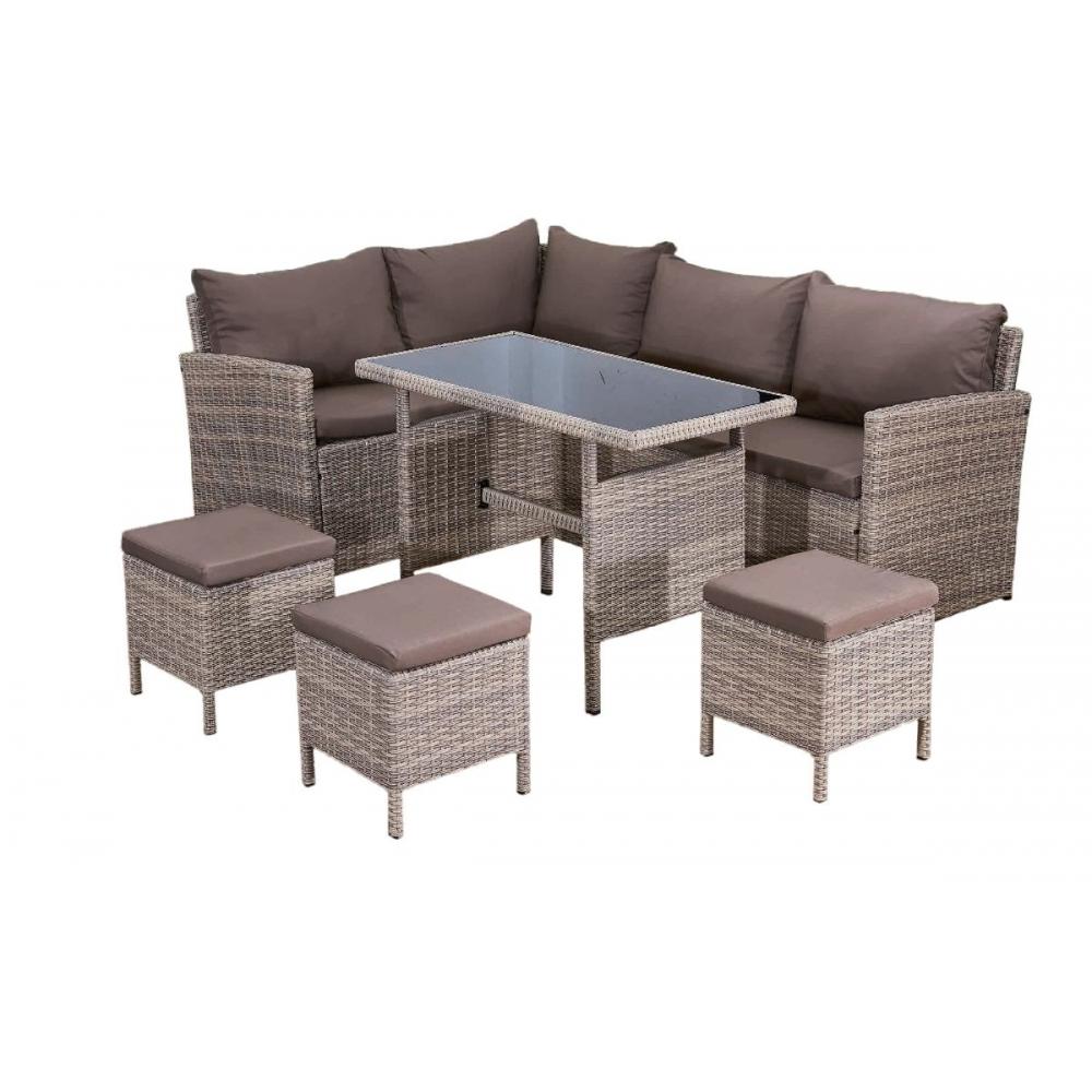 elegantiškas lauko baldų komplektas, iš Sintetinio technoratano, su staliuku
