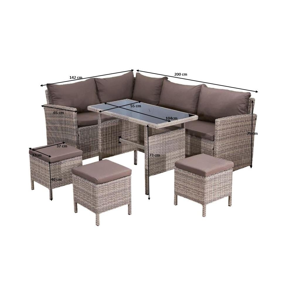 Lauko baldų komplektas PASSI