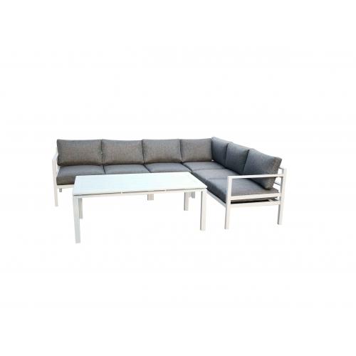 Lauko baldų komplektas ALLUMI WHITE XL