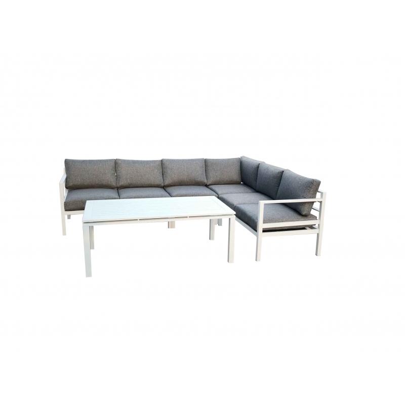 ALLUMI WHITE XL stiliaus lauko baldų komplektas, modernaus dizaino, aukšto komforto lygio