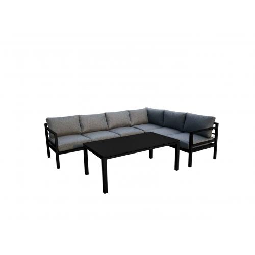 Lauko baldų komplektas ALLUMI NERO XL