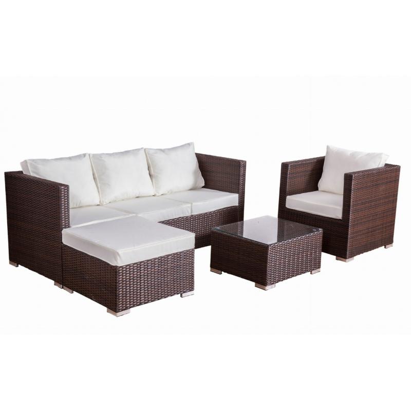 AMARI BROWN stiliaus lauko baldų komplektas, šiuolaikinio stiliaus, išskirtinio dizaino
