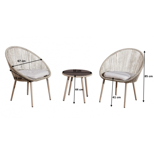pintas lauko baldų komplektas, su stalu, modernaus dizaino, su paminkštinimais ant kėdžių