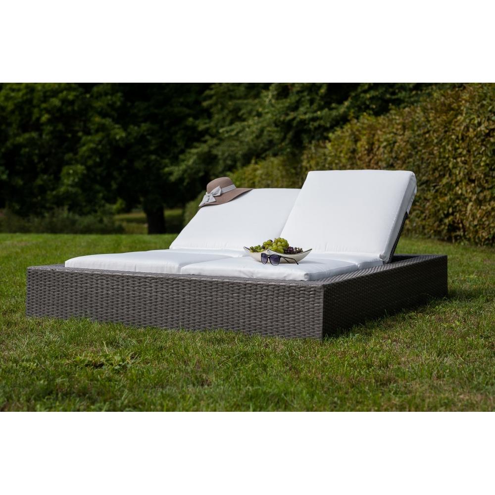 elegantiško dizaino lauko lova, iš sintetinio ratano, deginimuisi
