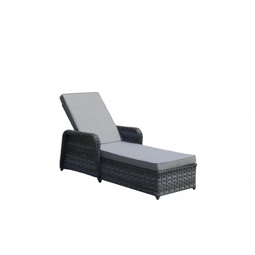 Modernaus dizaino lauko lova, su reguliuojamu atlošu ir porankiais, pinta