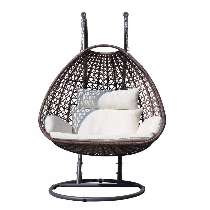 Modernaus dizaino pakabinamas fotelis, ergonomiškas, itin patogus krėslas-kokonas