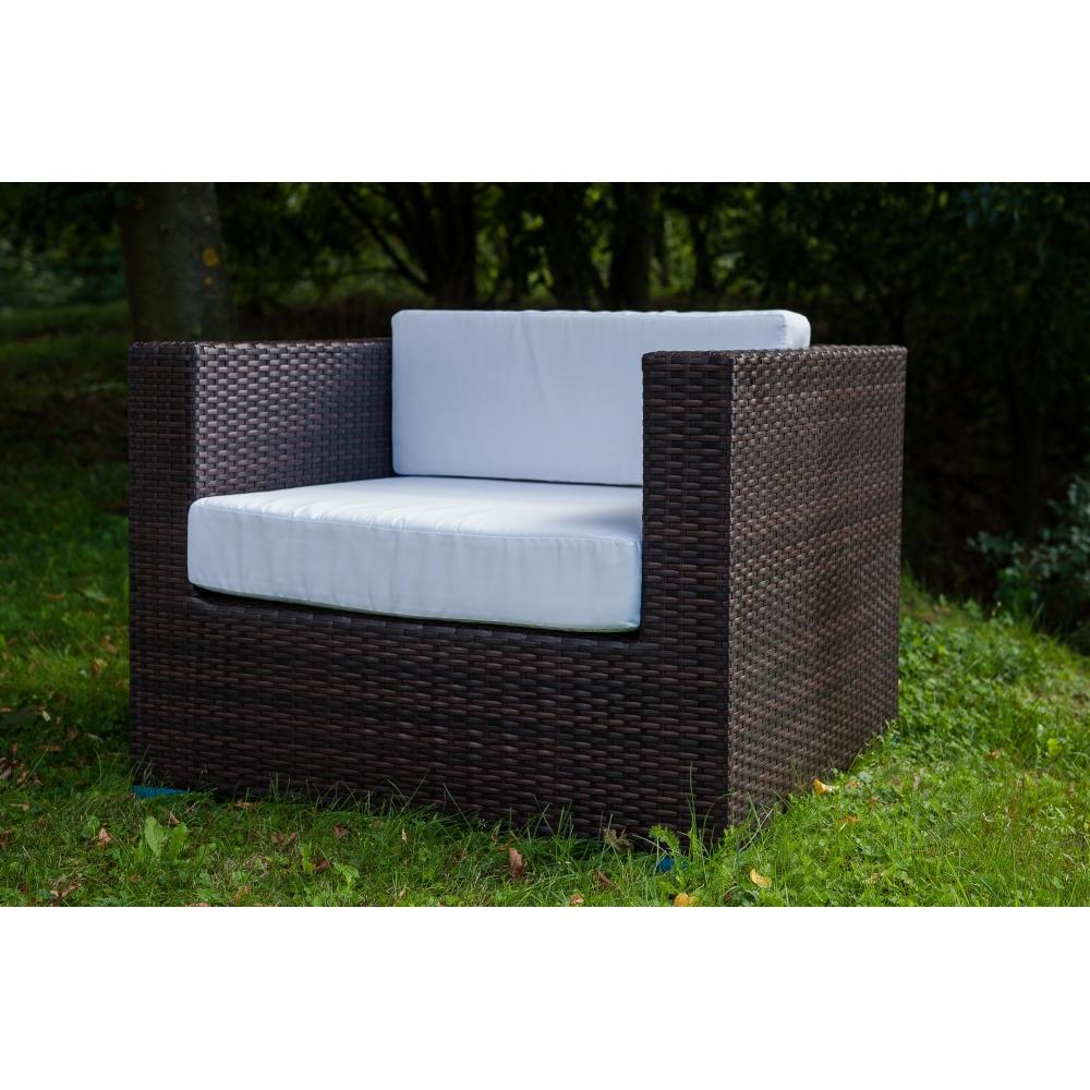 elegantiškas lauko fotelis-modulis, iš sintetinio ratao, atsparus lietui, šalčiui bei kenksmingiems UV spinduliams