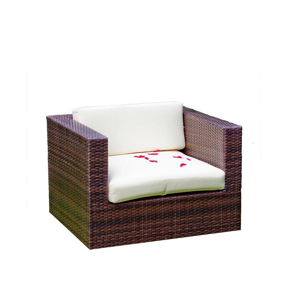modernaus dizaino Lauko fotelis, elegantiško dizaino, iš PE ratano