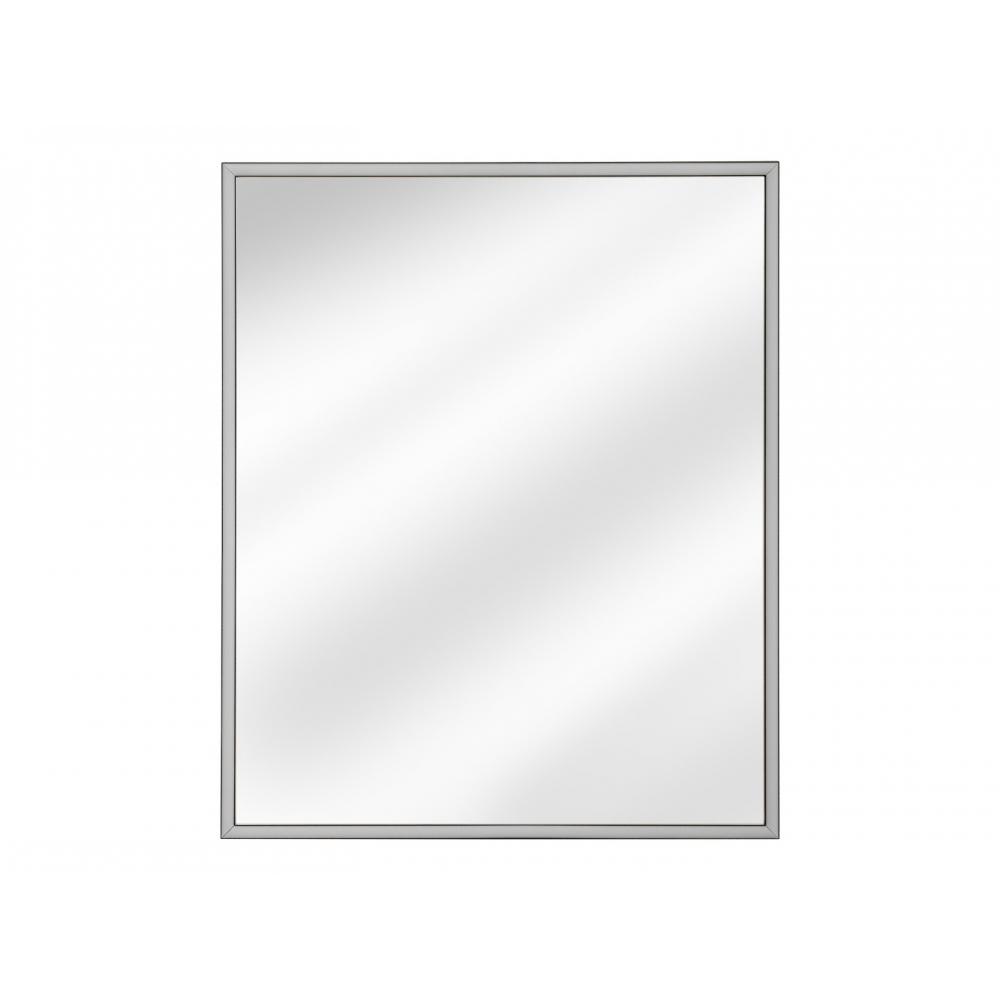 minimalistinis veidrodis, plonais rėmais, kvadratinis