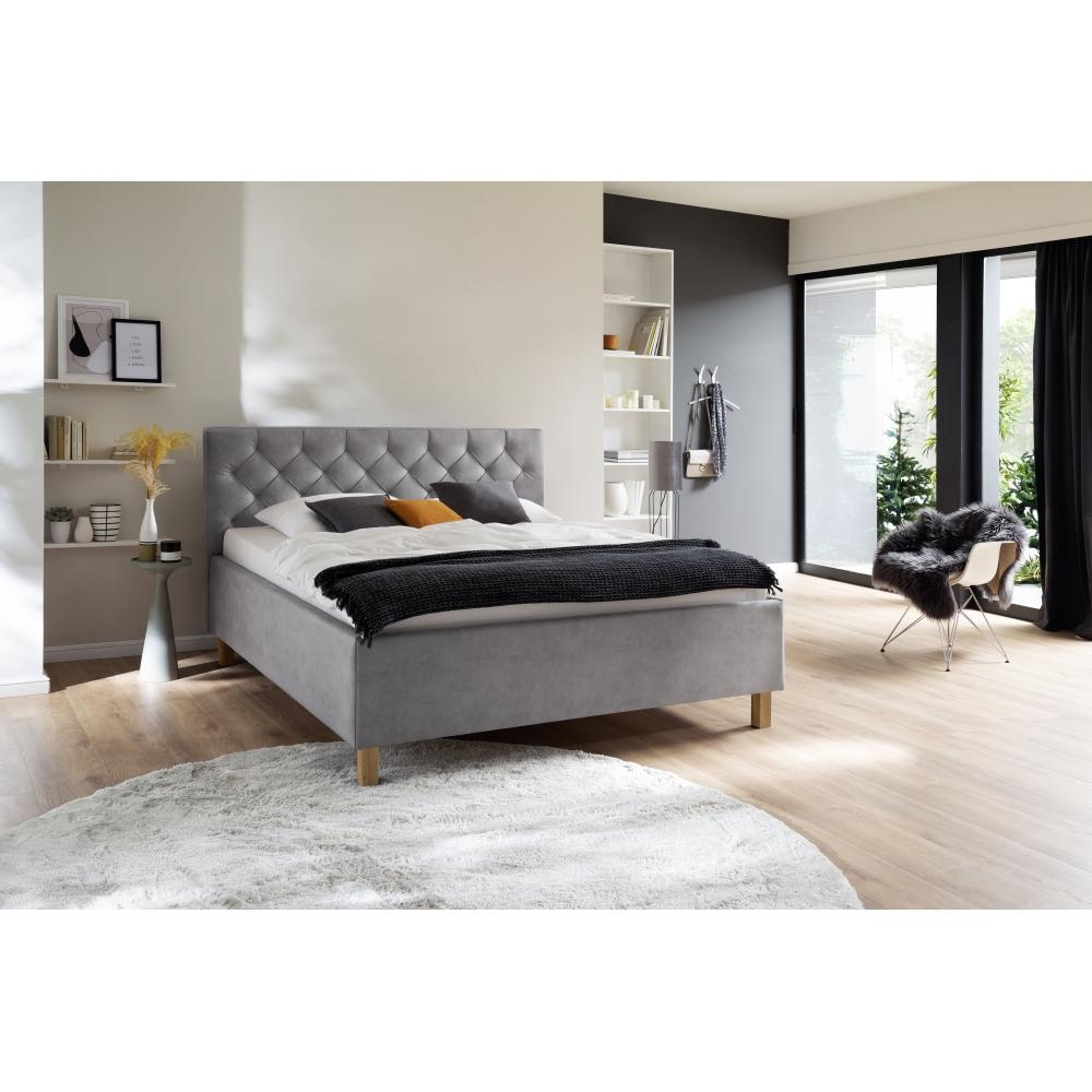 Modernaus dizaino lova, Minkšta mikropluoštinio audinio, prabangaus stiliaus