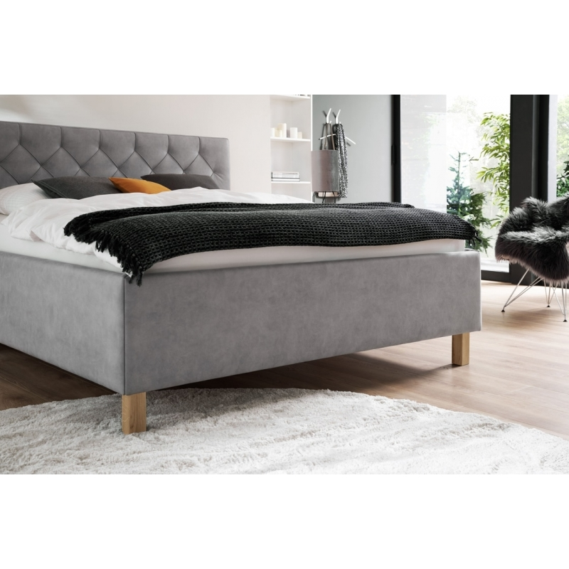 lova su ventiliuojama patalynės dėže, stilinga, rudos, pikos, juodos, žalios arba baltos spalvos