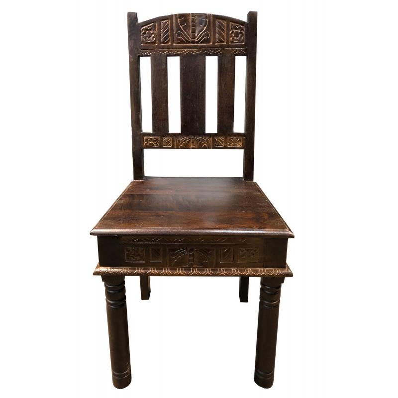ALMIRAH stilius, indiško stiliaus kėdė, antikvarinio stiliaus