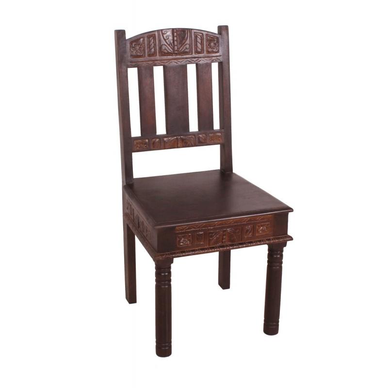 Medinė kėdė, natūralaus medžio, dekoruota