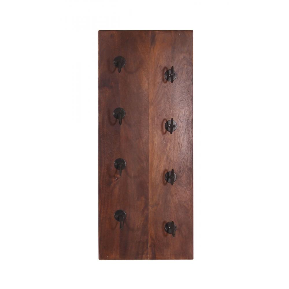 retro stiliaus pakabinama lentyna vynui, rudos spalvos, kokybiška